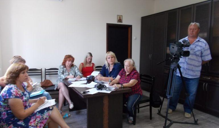На пресс-конференции с журналистами города
